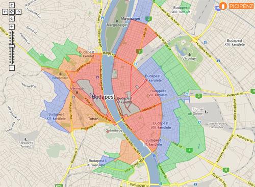 parkolóház budapest térkép Interaktív térképen a fővárosi parkolási zónák   Fogyasztók.hu  parkolóház budapest térkép
